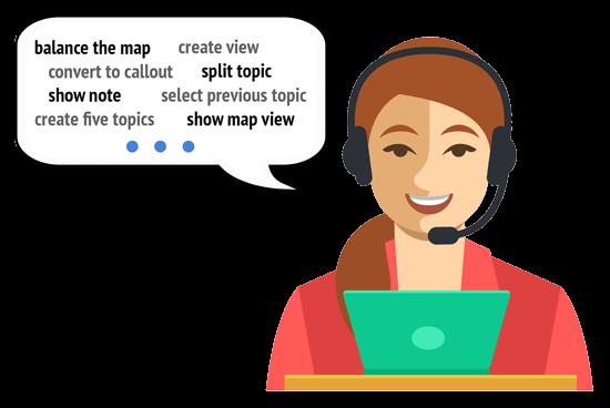 Example bespoke VoxAid commands for Mindjet MindManager assistive technology software